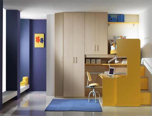 Camerette bambino vari colori armadi angolari mod levry - Specchi per camerette ...