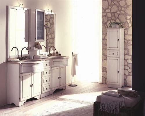 Bagno classico varie colorazioni lavabo ceramica mod venezia - Arredo bagno classico elegante prezzi ...