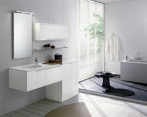 Bagno moderno varie colorazioni lavabo ceramica for Lavabo con lavatrice