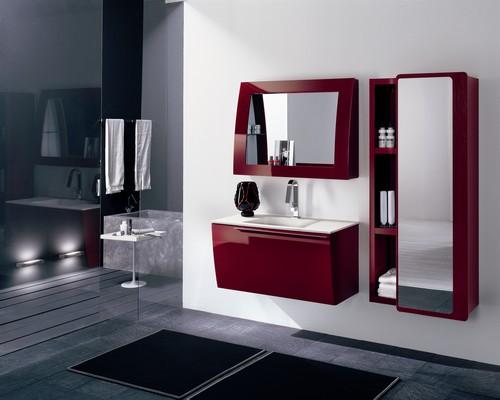 Bagno moderno varie colorazioni lavabo ceramica for Mobili colorati moderni