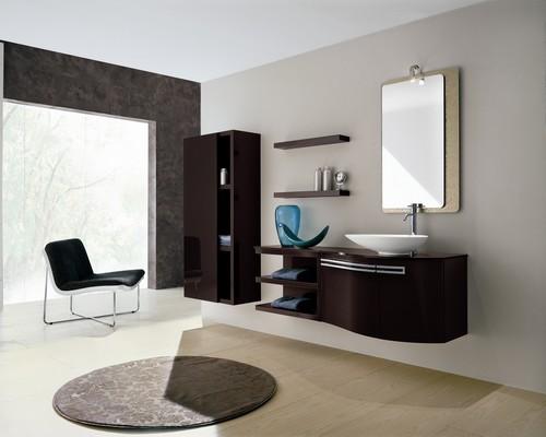 Bagno moderno varie colorazioni lavabo ceramica progettazione su misura design - Lavabo cucina moderno ...