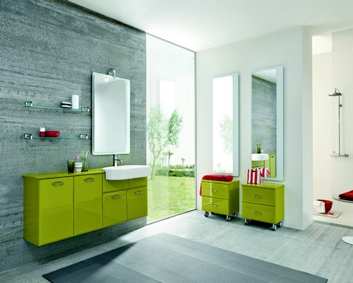bagno moderno - varie colorazioni - lavabo ceramica ... - Bagni Moderni Verdi