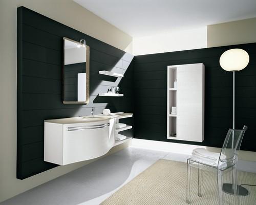 Bagno moderno varie colorazioni lavabo ceramica - Lavabo bagno colore champagne ...
