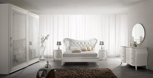 Camere moderne cristalli pianca presotto fimar for Camere moderne bianche