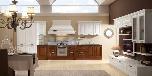 Cucine classiche anta in legno noce rovere - Colorare ante cucina ...