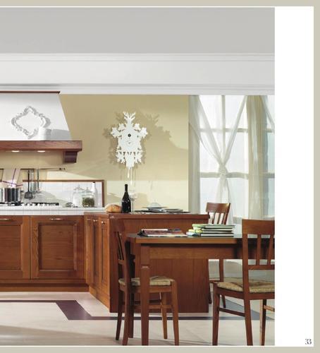 Cucina Classica Legno Ciliegio Con Vetrine Gioia Tauro Cucina Classica Pictur...