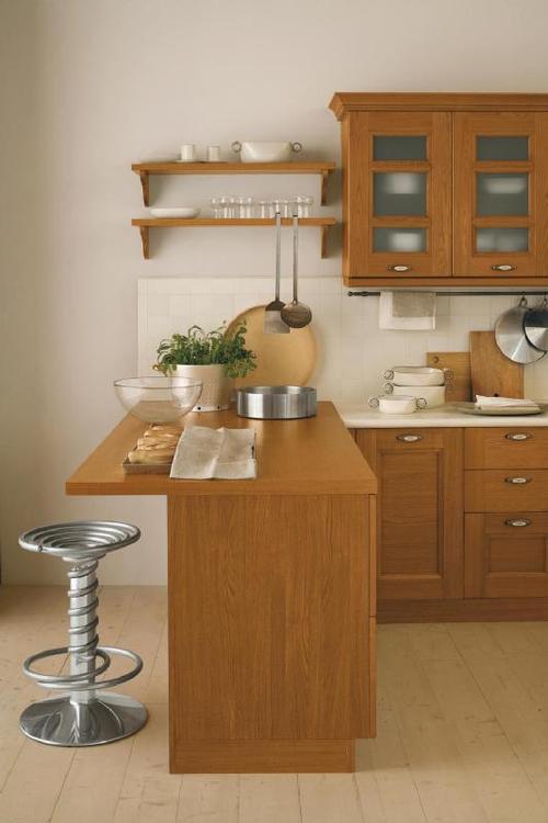 cucine classiche - anta in legno - noce - rovere - frassinato bianco - tranché - ciliegio ...