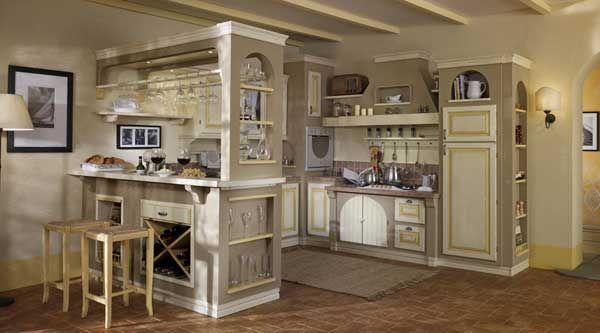 Cucine classiche anta in legno noce rovere - Immagini cucine in muratura ...
