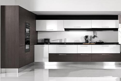 Pareti Attrezzate Moderne Noce Canaletto : Cucine moderne laccate lucide opache laminato