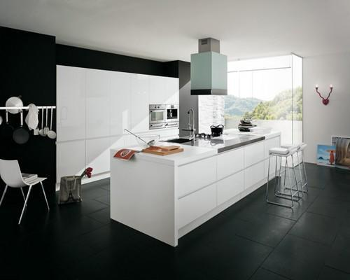 Cucine moderne nere lucide angolari tutto su ispirazione - Cucine nere lucide ...
