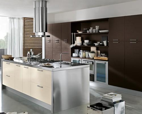 Cucine moderne laccate lucide opache laminato offerte design impiallacciate - Cucina color panna ...