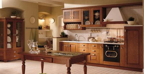 Cucine rustiche in yellow pine pino abete finta - Cucine rustiche in finta muratura ...