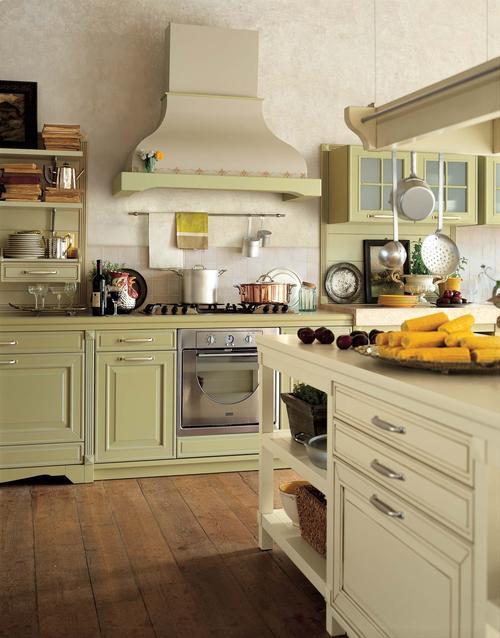 Cucine rustiche in yellow pine pino abete finta muratura piani cucina in sassi del piave - Cucine in stile rustico ...