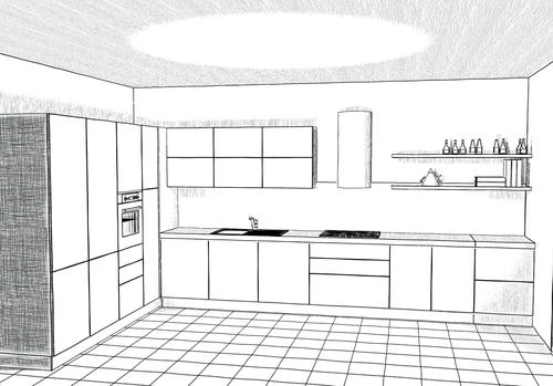 Disegnare mobili in prospettiva awesome immagine titolata for Disegnare interni