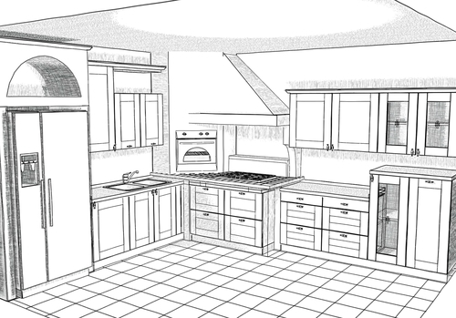 Disegna cucina cucina oyster veneta cucina serie cosy for Disegnare interni casa