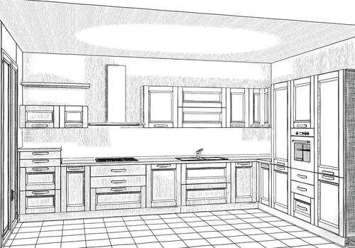 Cucine Moderne Con Disegni.Disegno Esclusivo Progettazione Di Interni Arredamenti A