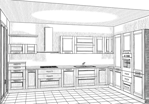 Disegni Di Cucine Moderne.Disegno Esclusivo Progettazione Di Interni Arredamenti A