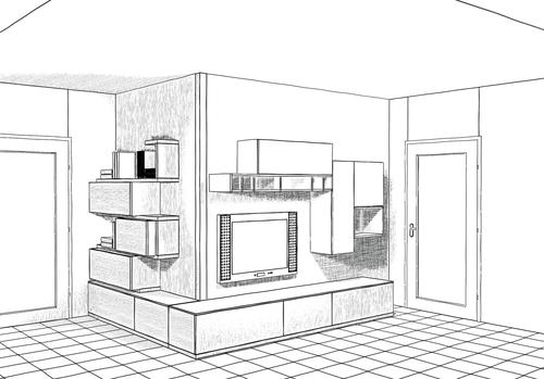 Pianta soggiorno una collezione di idee per idee di - Disegno pianta casa ...