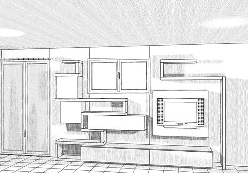 disegno esclusivo - progettazione di interni - arredamenti a misura - svilupp...