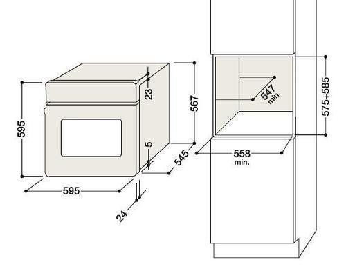 Eletrodomestici ariston frigorifero combinato forno for Lavastoviglie misure standard
