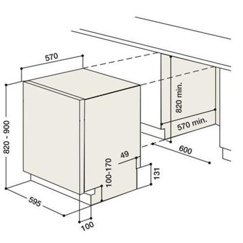 Elettrodomestici ariston frigorifero combinato forno for Lavastoviglie misure standard