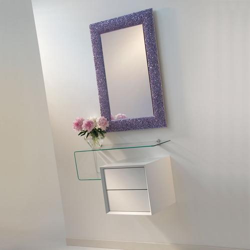 Ingressi moderni primavera riflessi specchio for Mensola con cassetti ikea
