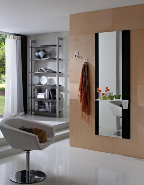 Ingressi moderni primavera riflessi specchio appendini esclusivi appendiabiti - Specchio cornice bianca ...