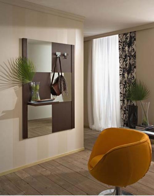 Ingressi moderni primavera riflessi specchio - Attaccapanni con specchio ...