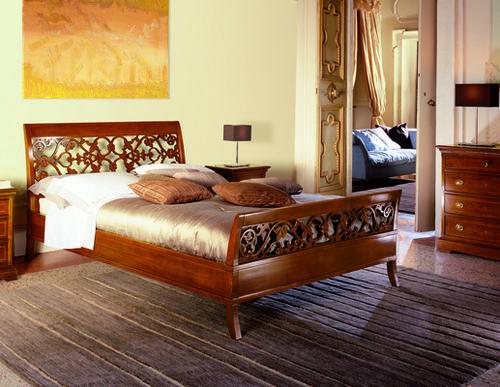 Letti classici in ferro battuto le fablier piombini in legno noce nazionale rovere - Pittura per camera da letto classica ...