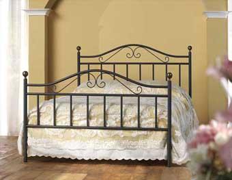 Letti in ferro battuto cosatto piombini foglia oro argento classico antichizzato - Spalliere letto in ferro battuto ...