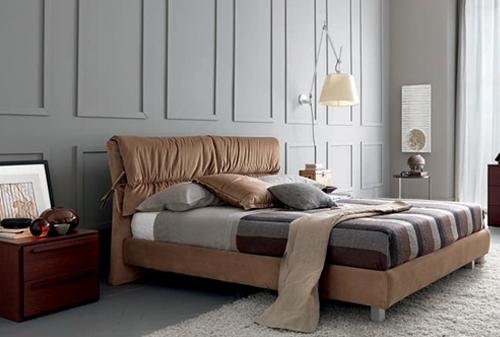 Letti testate imbottiti in ferro battuto moderni classici ln legno contenitore box - Testate per letto ...