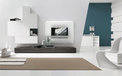Porta Tv A Parete Sospesi Stunning Mobile Parete Soggiorno Libreria