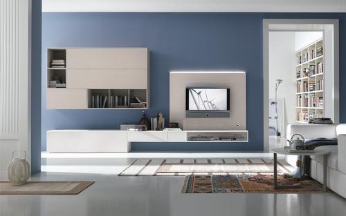 Soggiorni moderni caccaro weng laccato ciliegio for Pittura soggiorno moderno