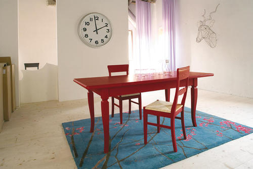 Tavolo Rosso Legno.Vendita Tavoli Sedie Classici Bar Negozi Casa